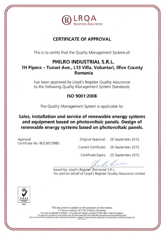 Certificare ISO9001:2008
